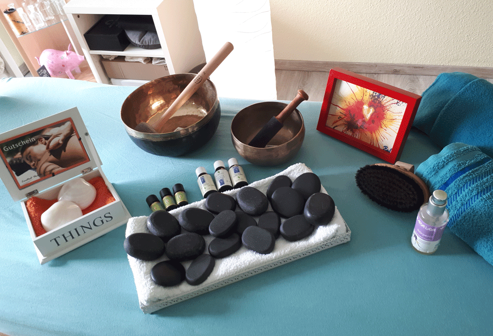 Massage, Hot Stone, Anwendung